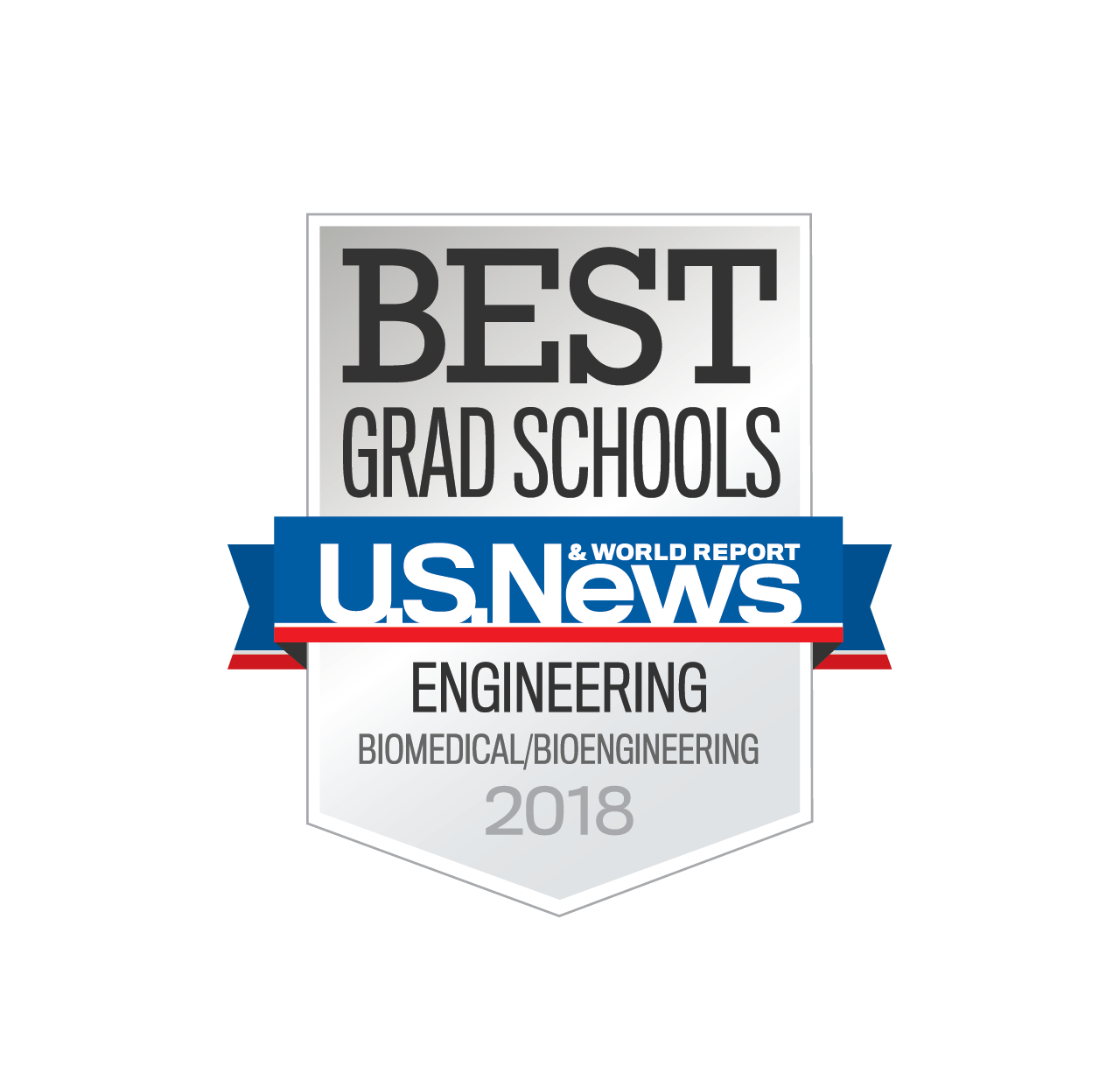 US News badge - Best Grad Schools - Biomedical Engineering 2018